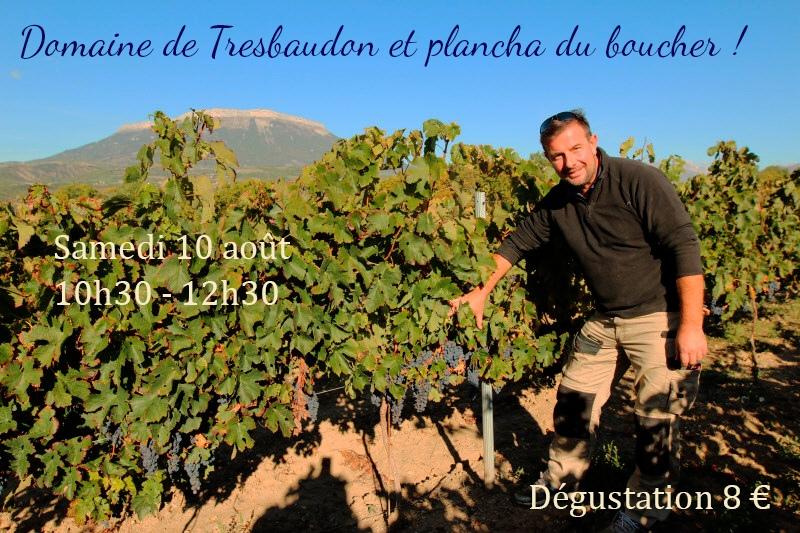 Domaine de Tresbaudon et plancha du boucher !