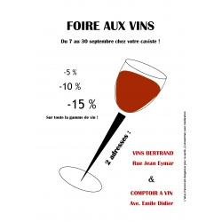 Dégustation spéciale Foire aux Vins