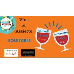 Dégustation Vins et assiette équitable