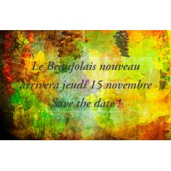 Réserver la date de l'arrivée du Beaujolais Nouveau 2018 !