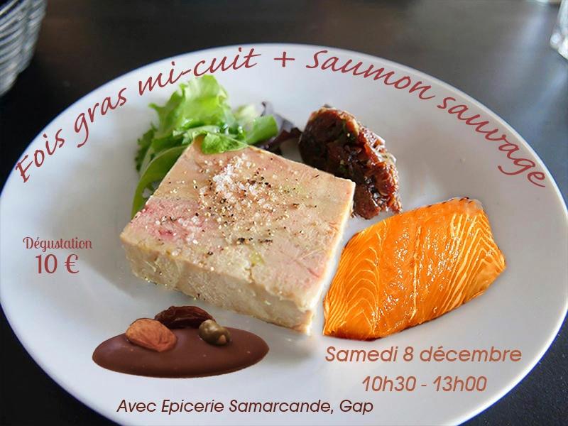 Fois gras mi-cuit et Saumon Sauvage
