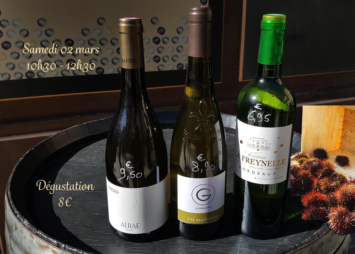 OURSINADE et Vins Blancs
